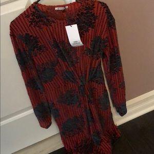 NWT Velour / Velvet ZARA Dress
